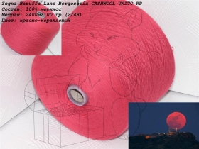 Zegna Baruffa Lane Borgosesia CASHWOOL UNITO  красно-коралловыйRP