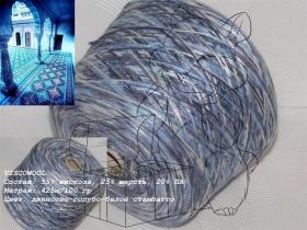 VISCOWOOL джинсово-голубо-белое стампато