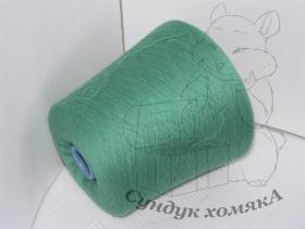 Exclusive Yarns кашемир  яркий зеленый с голубизной (H90 new emerald)